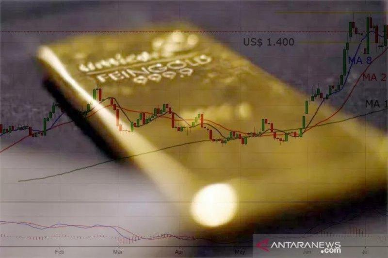 Harga emas berjangka kembali naik 2,5 dolar AS