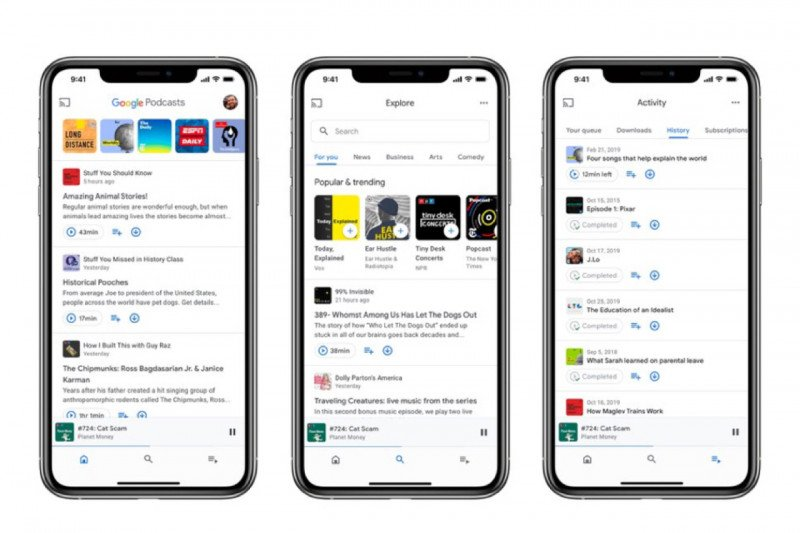 Google Podcast hadir di iOS dengan membawa pembaruan