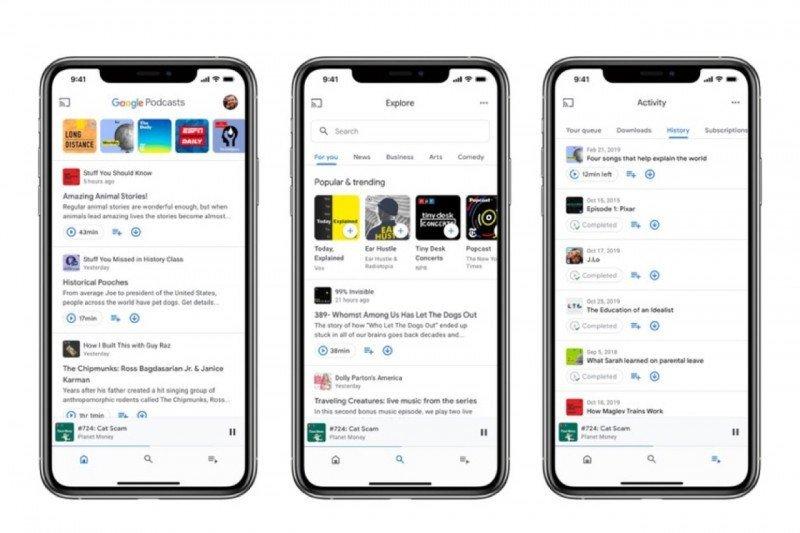 Aplikasi Google Podcast hadir di iOS dengan membawa sejumlah pembaruan