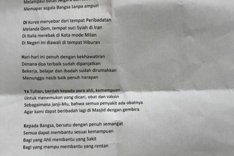 Jusuf Kalla menulis puisi tentang COVID-19