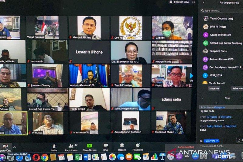 Komisi II DPR dan KPU RI gelar rapat virtual tentang penundaan Pilkada 2020