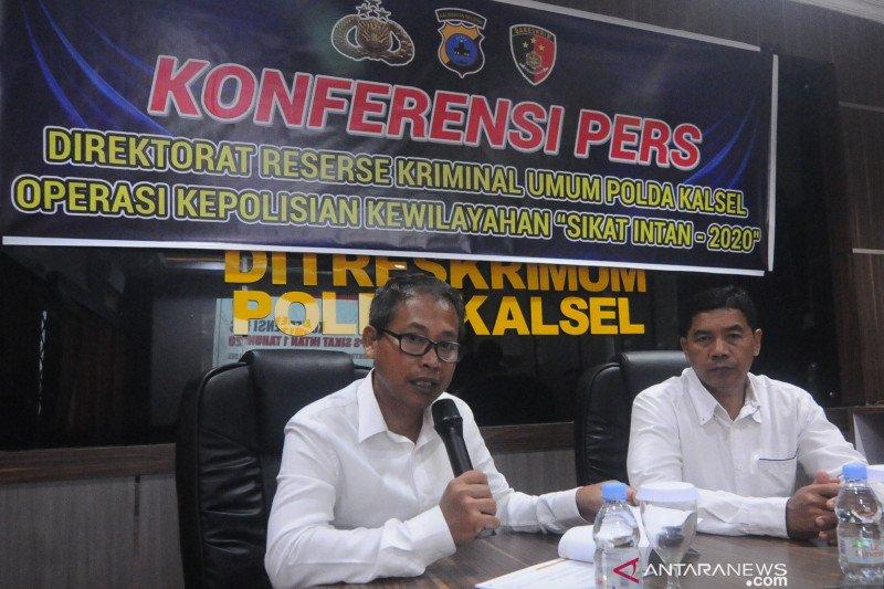 Polda Kalsel sita 101 senjata tajam selama Operasi Sikat 2020