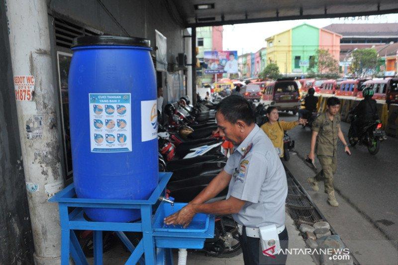 Fasilitas cuci tangan portabel di Palembang