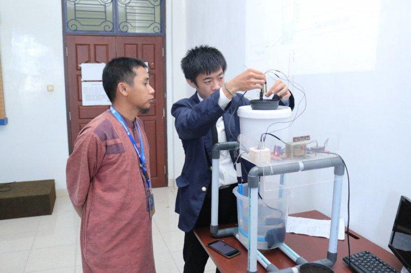Mahasiswa Darmajaya ciptakan rancang bangun sistem control irigasi tetes berbasis IoT