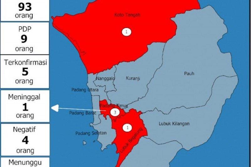 Tiga kecamatan di Padang masuk zona merah corona