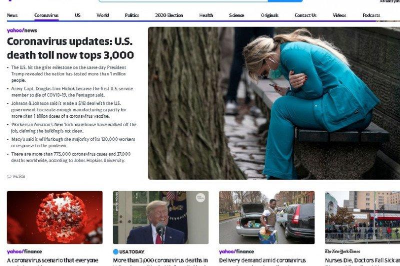 Yahoo hadirkan kanal informasi seputar corona