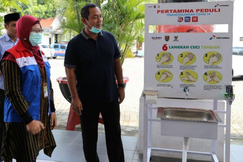 Pertamina sediakan wastafel portable di pasar tradisional Semarang