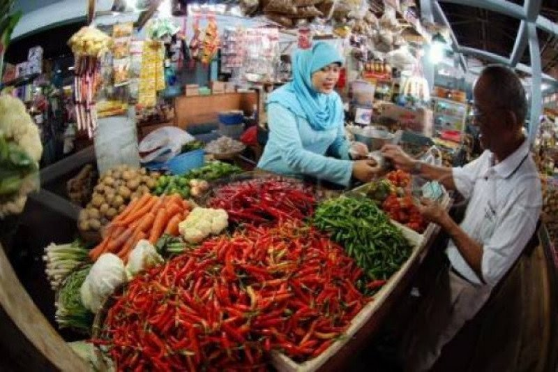 Sejumlah harga beberapa kebutuhan pokok di Yogyakarta turun