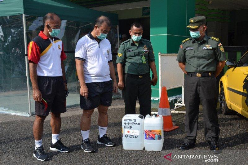 Kodam II/Sriwijaya dapat bantuan cairan  disinfektan