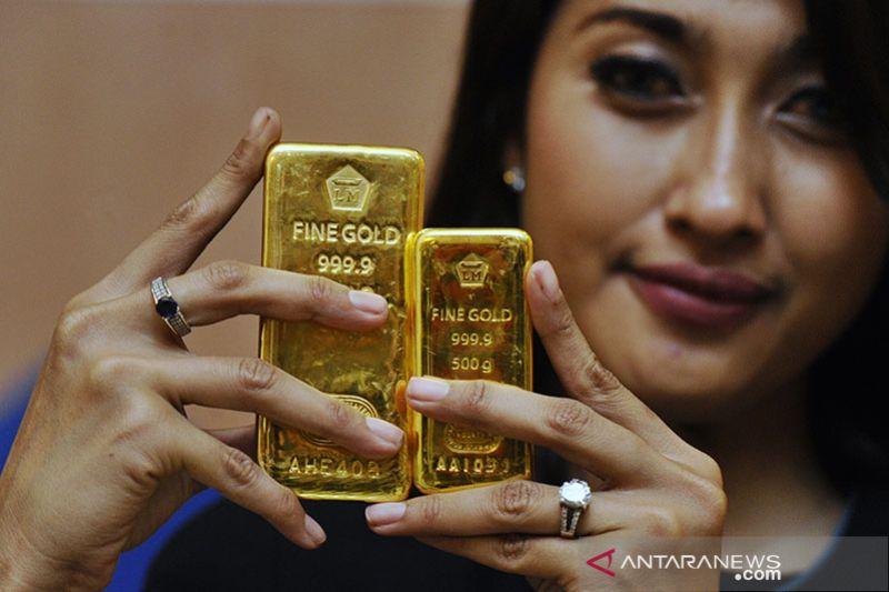 Harga emas Antam melonjak di atas Rp900.000/gram