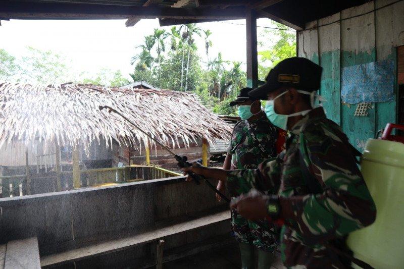 Penyemprotan Disinfektan Cegah Corona Kampung Kibay