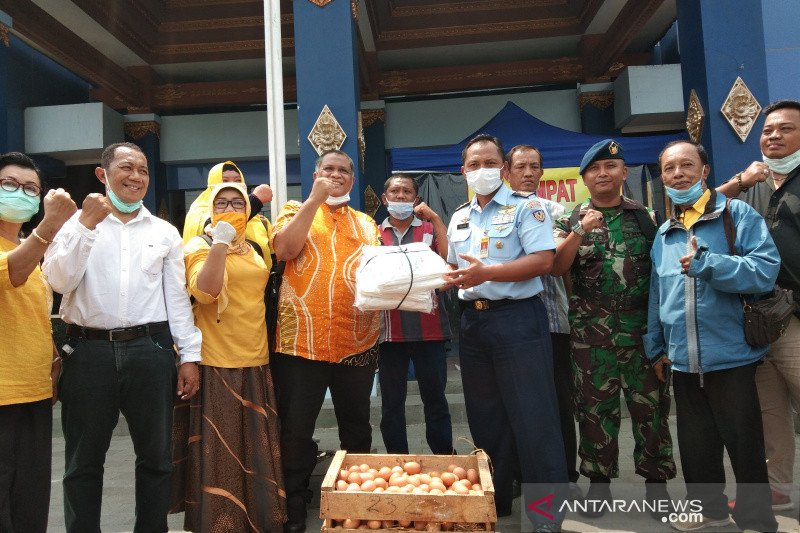 RSPAU Hardjolukito Yogyakarta merima donasi APD penanganan COVID-19