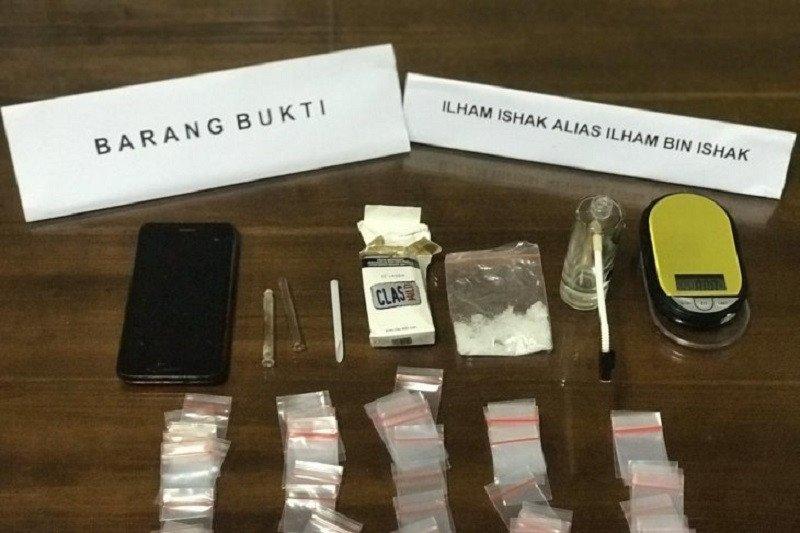 Polda Sulawesi Tebggara ringkus pengedar narkoba 5,34 gram