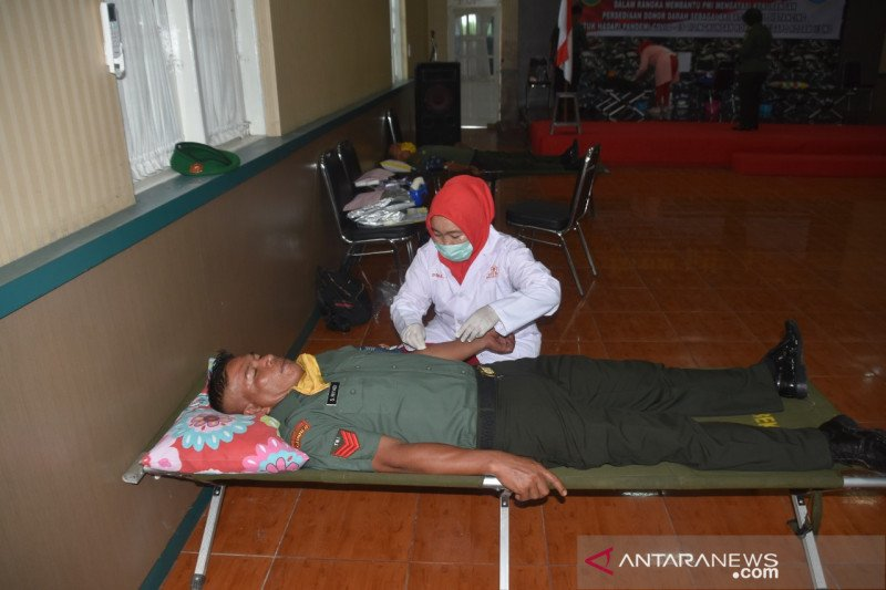 Korem Gapo gelar donor darah