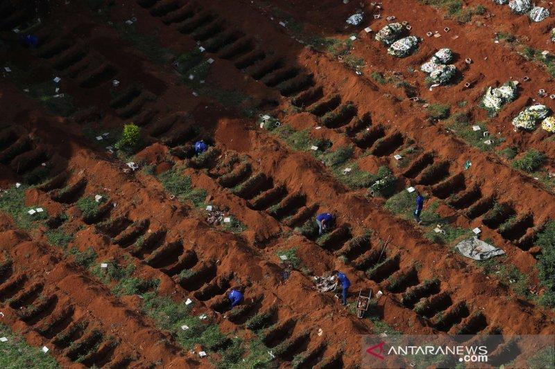 Brazil laporkan penambahan 2.408 kematian COVID-19