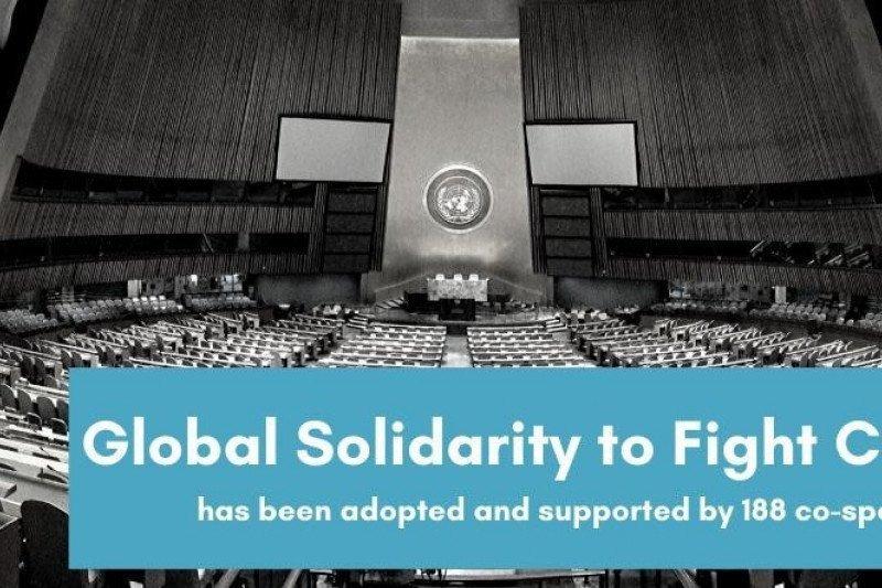 """Indonesia bersama sejumlah negara telah loloskan Resolusi PBB """"Solidaritas Global atasi COVID-19"""""""