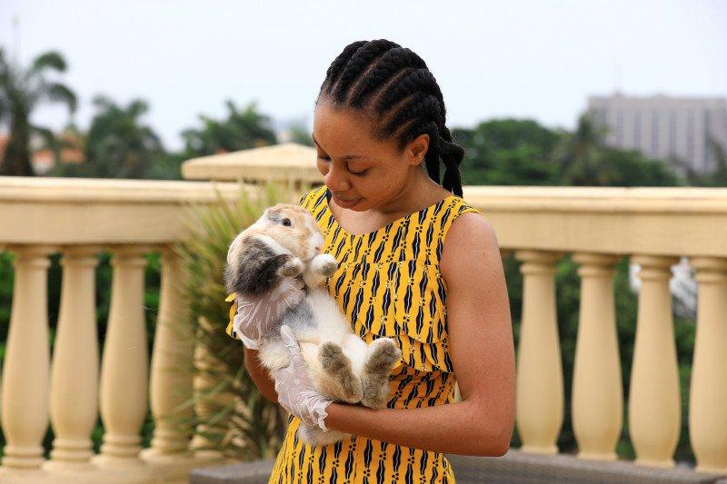 Kelinci jadi hiburan bagi orang Nigeria saat karantina wilayah