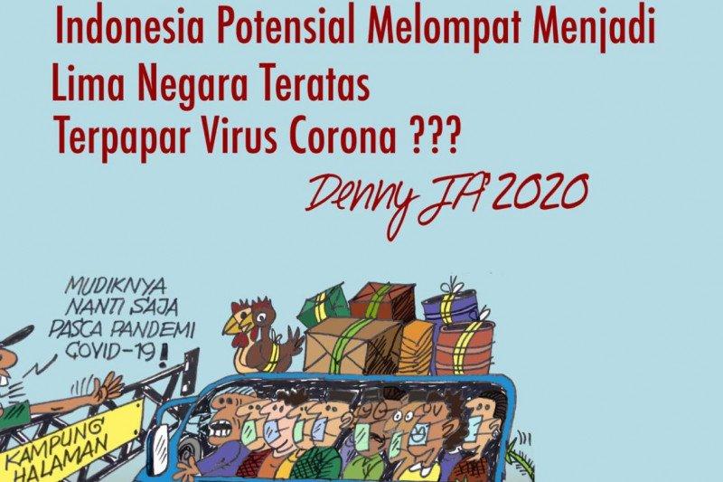 Denny JA : Indonesia berpotensi lima besar COVID-19 jika mudik dibolehkan
