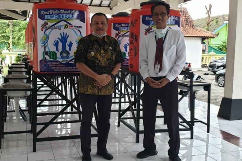 Bank Jateng Cabang Purworejo berikan bantuan perlengkapan cuci tangan pakai sabun
