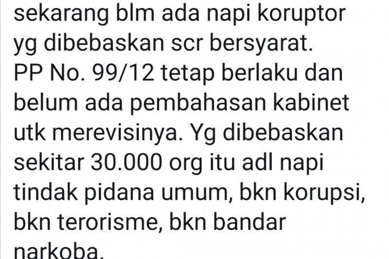 Mahfud jelaskan 30 ribu narapidana yang akan dibebaskan bukan napi koruptor