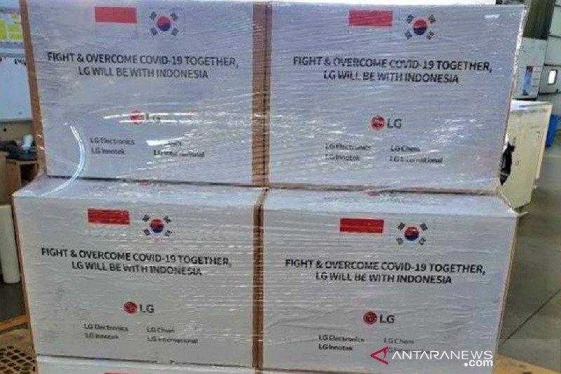50 ribu alat tes COVID-19  bantuan LG Group Korsel tiba hari ini