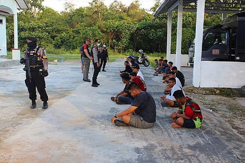 Balapan di tengah pandemi COVID-19, puluhan pelajar di Bartim diamankan