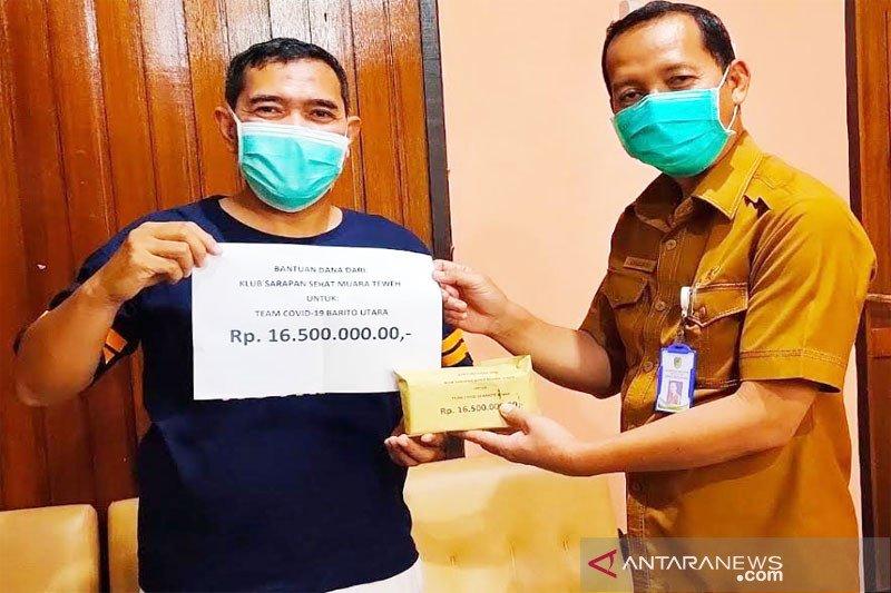 Klub Sarapan Sehat serahkan bantuan kepada tim gugus COVID-19