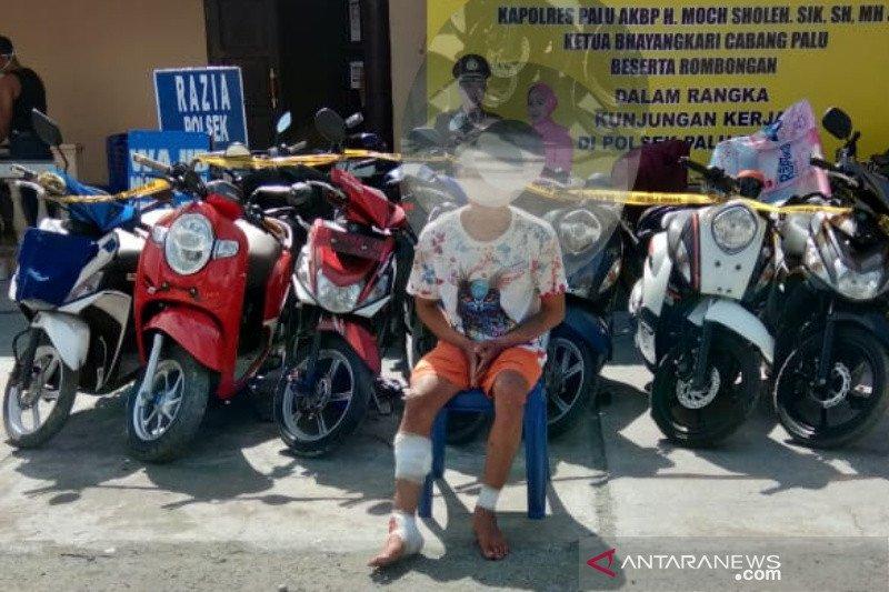 Polisi hadiahi timah panas di kaki pencuri motor beraksi 15 kali di Sulteng
