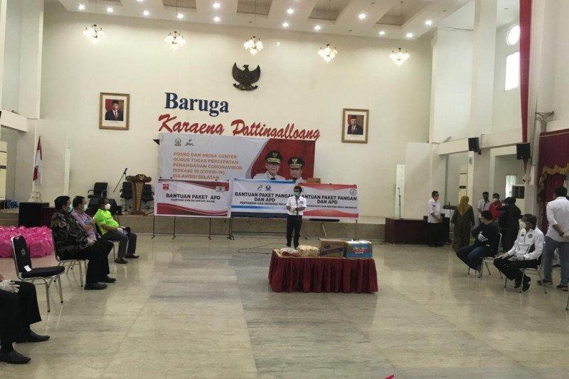 Hiswana Migas Makassar serahkan bantuan 500 paket kebutuhan pokok