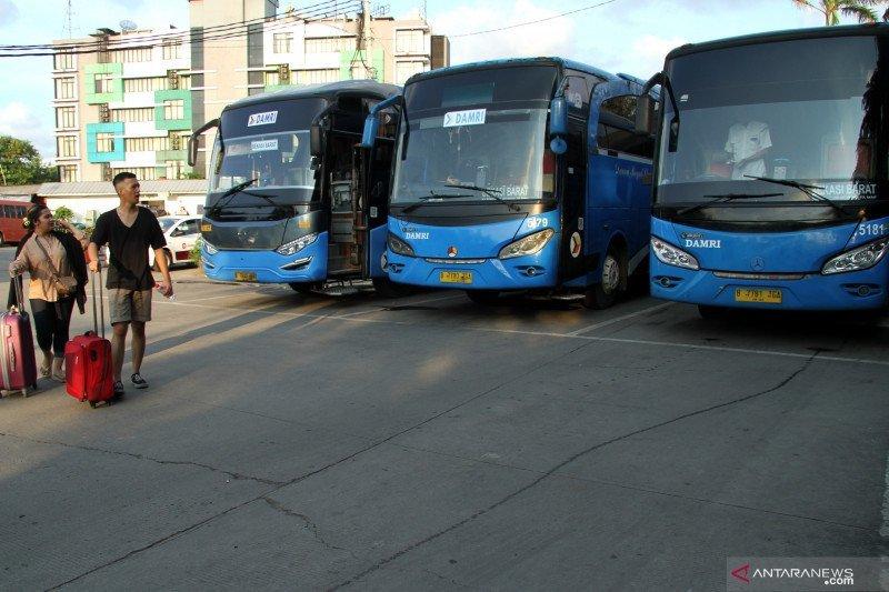 Operasional Bus Damri Soekarno-Hatta dihentikan