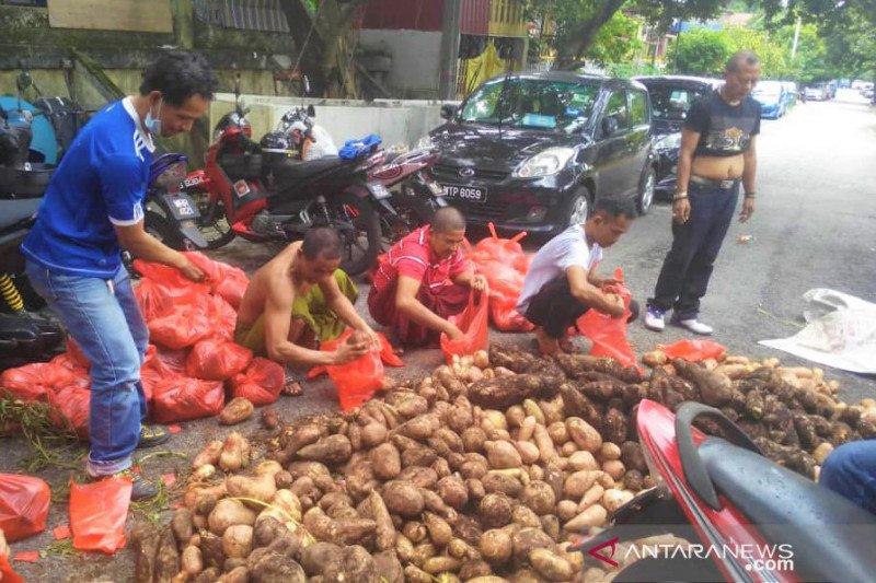 Satu ton ubi jalar disumbangkan TKI Malaysia pada rekan terdampak