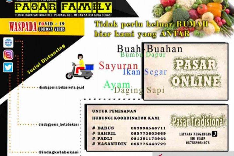 11 pasar tradisional di Bekasi terapkan transaksi daring