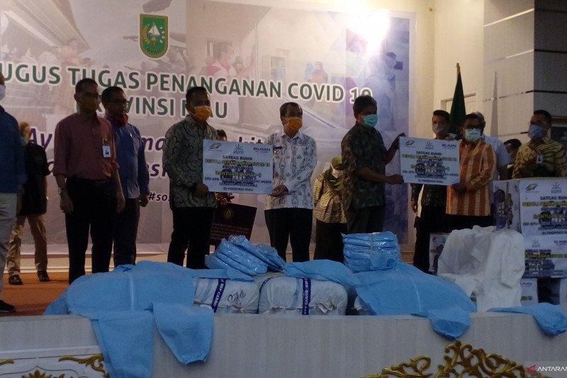 Satgas BUMN peduli penanganan COVID-19 Riau bantu 208 APD