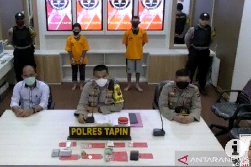 Polres Tapin sita 120 gram sabu-sabu dari tangan suami istri