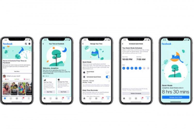 Facebook tambah mode diam untuk aplikasi mobile bungkam pemberitahuan