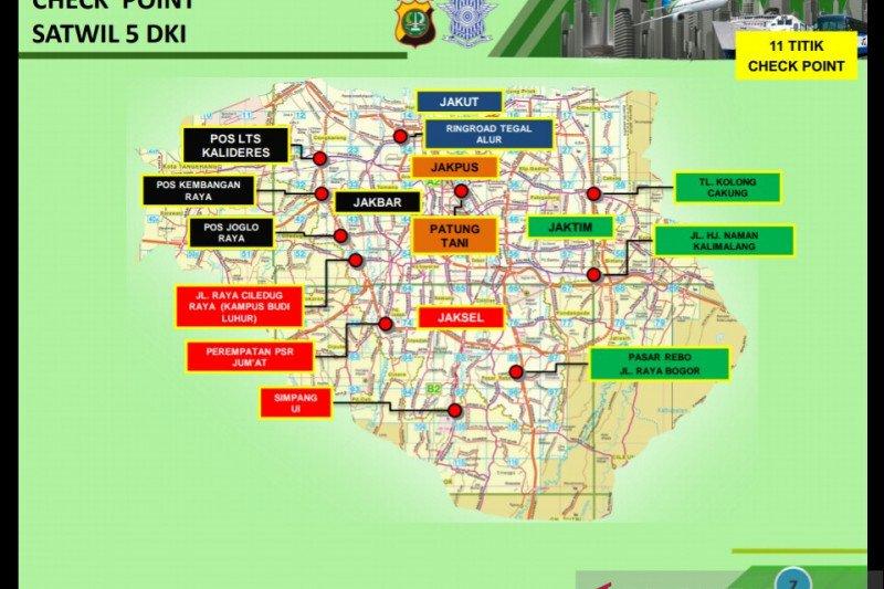 Polda Metro Jaya gunakan 33 titik pengecekan PSBB