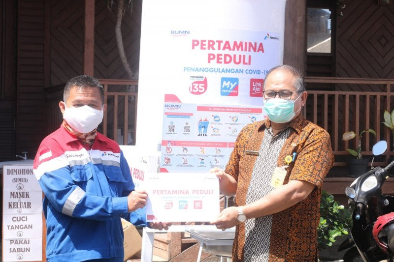 PGE Lahendong sumbang masker dan APD cegah penularan COVID-19