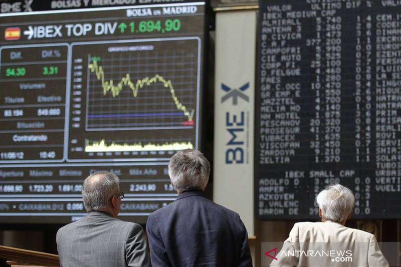 Saham Spanyol naik tajam, indeks IBEX 35 terdongkrak 2,46 persen