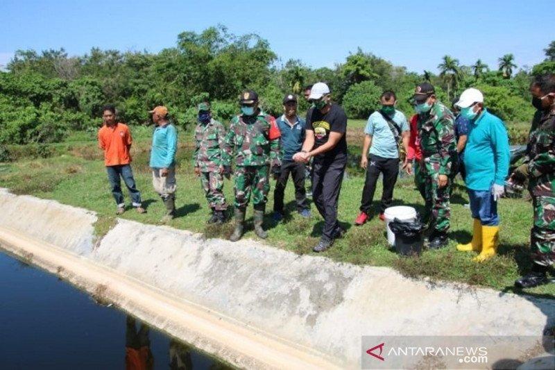 Danrem 032/Wbr tebarkan bibit lele di kolam limbah TPA tingkatkan ketahanan pangan