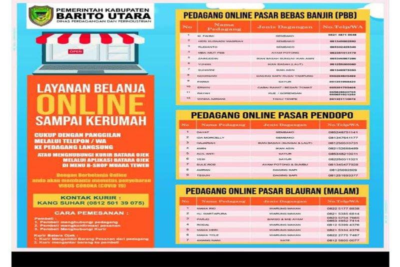 Pemkab Barito Utara berlakukan belanja online di tiga pasar