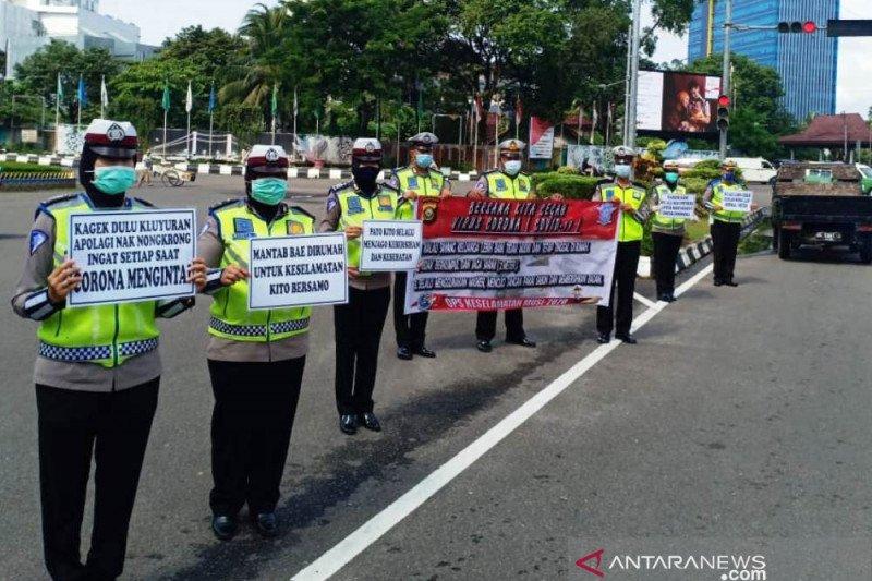 Satlantas Palembang hentikan tilang kendaraan beberapa pekan ke depan hindari kerumunan