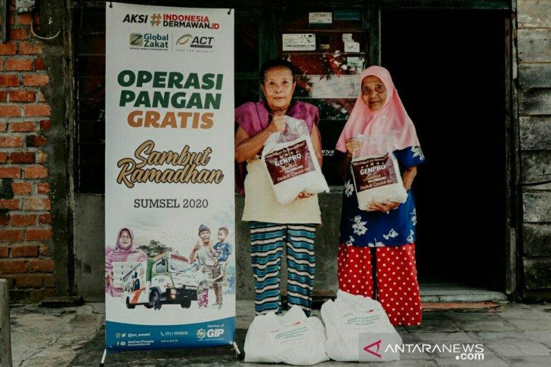 ACT Sumsel fokus salurkan bantuan pangan bagi warga prasejahtera