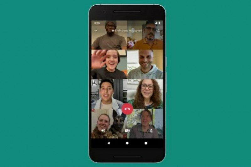 """Manjakan penggunanya, """"Video call"""" WhatsApp sekarang bisa 8 orang"""