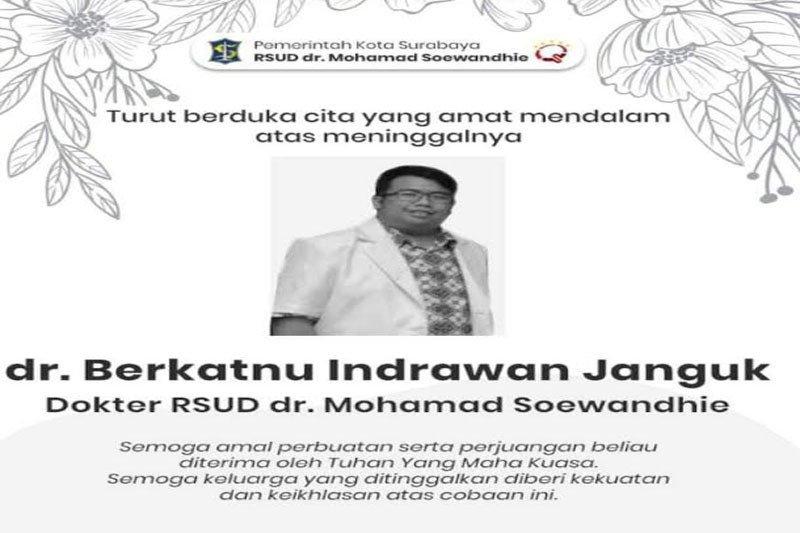 Perilaku pasien COVID-19 tak jujur dan kematian dokter di Surabaya