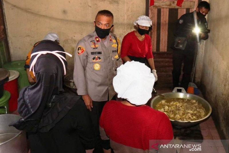 Wakapolda Sumsel cek dapur bantuan makanan siap saji