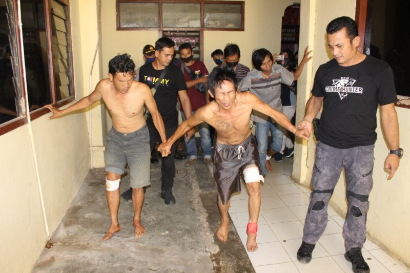 Polres Tanggamus-Polsek Limau ringkus tiga perampok di Kulumbayan Barat