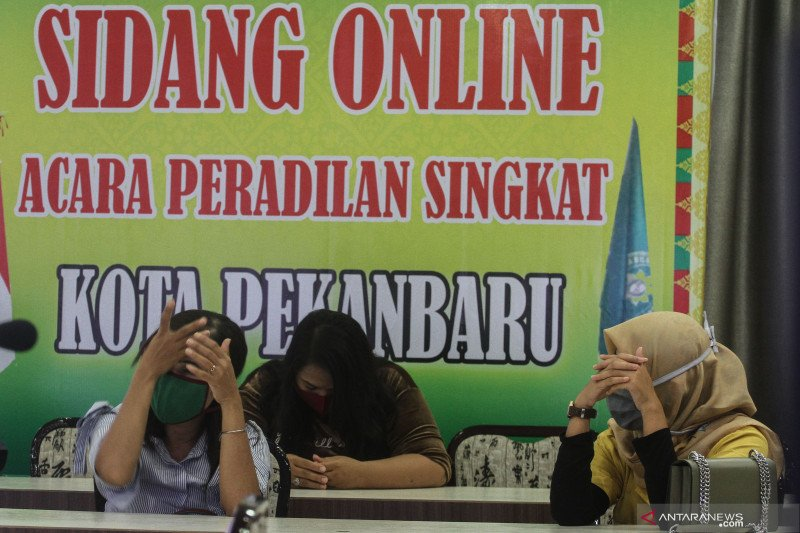 19 pelanggar PSBB di Pekanbaru dijatuhi hukuman denda hingga jutaan rupiah