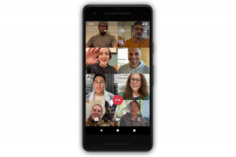 Cara melakukan panggilan video 8 orang di WhatsApp
