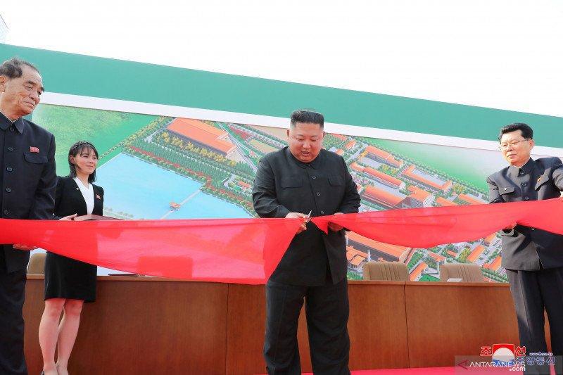 Kim Jong Un  muncul hadiri peresmian  pembangunan  pabrik pupuk
