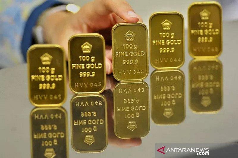 Harga emas naik dipicu pelemahan dolar dan ketakutan virus